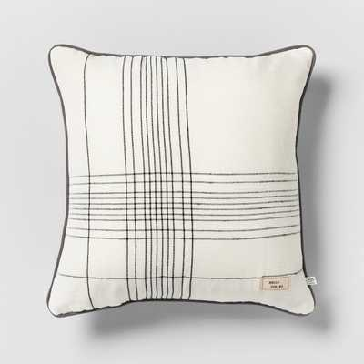 Hello Spring Striped Reversible Throw Pillow Cream / Green / Gray - Hearth & Hand™ with Magnolia - Target