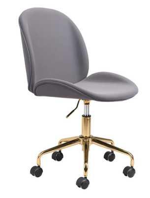 Miles Office Chair Gray - Zuri Studios