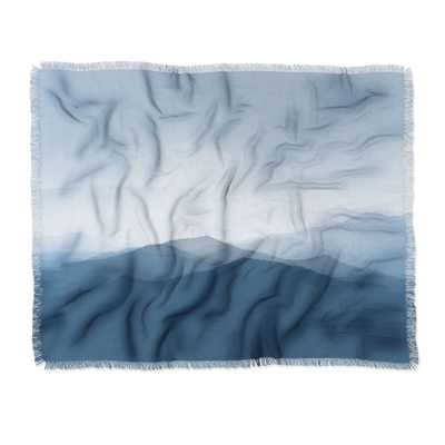 Ingrid Beddoes Hazy morning blues Throw Blanket - Wander Print Co.
