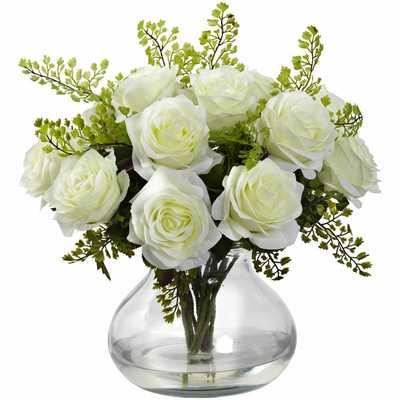 Rose Floral Arrangement in Vase - Wayfair