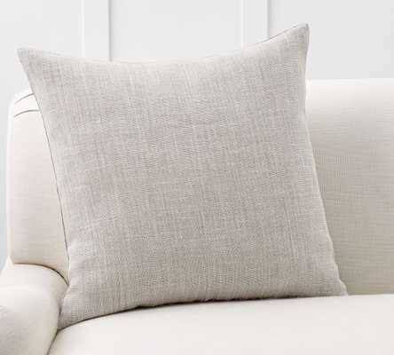 "Libeco Linen Pillow Cover, 24"", Pewter - Pottery Barn"