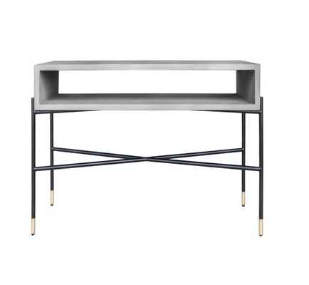 Thibeault Concrete and Metal Console Table - Wayfair