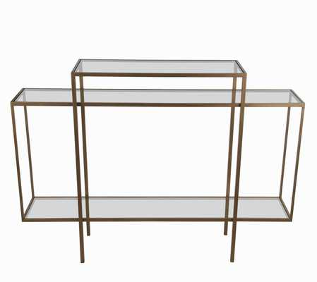Wrought Studio Hoover Skinny Accent Console Table - Wayfair