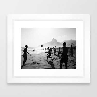 Beach Soccer at Ipanema Framed Art Print - Society6