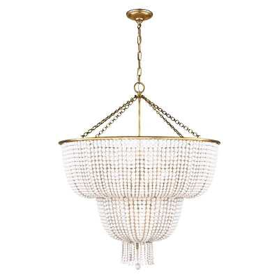 JACQUELINE LARGE CHANDELIER WITH WHITE ACRYLIC - McGee & Co.
