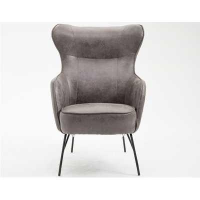 """Jill 29.5"""" W Faux Leather Armchair - Wayfair"""