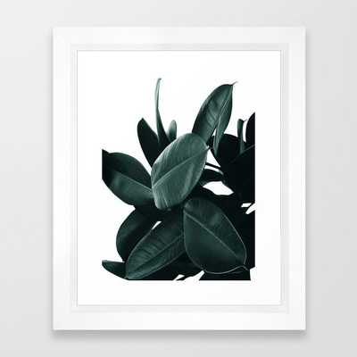 Dark Green Rubber Plant Framed Art Print - Society6