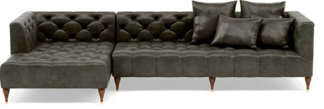 MS. CHESTERFIELD LEATHER Leather Sectional Sofa with Left Chaise - Interior Define