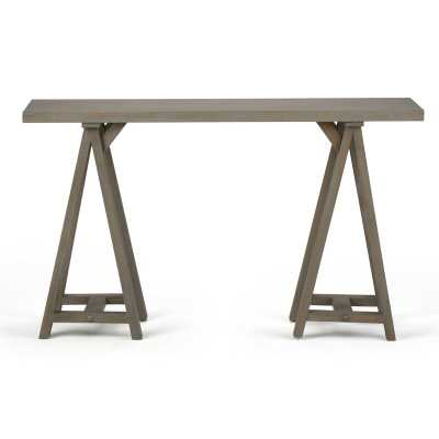 "Ine Console Table, Distressed Gray, 66"" W - Wayfair"