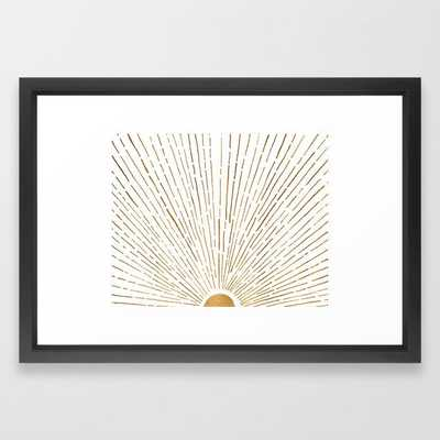 Let The Sunshine - Vector Black 15x21 - Society6