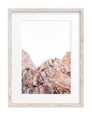 Painted Canyon 5  - Whitewashed Herringbone Matted - Minted
