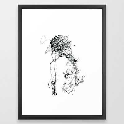 Ecce femina Framed Art Print - Society6