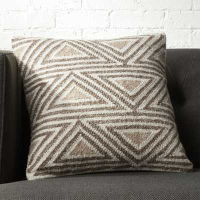 """18"""" Tula Triangle Pattern Pillow with Down-Alternative Insert."" - CB2"