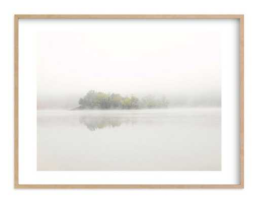 """the island - 24 x 18"""" - Matte Brass - Chic metal frame - Minted"""