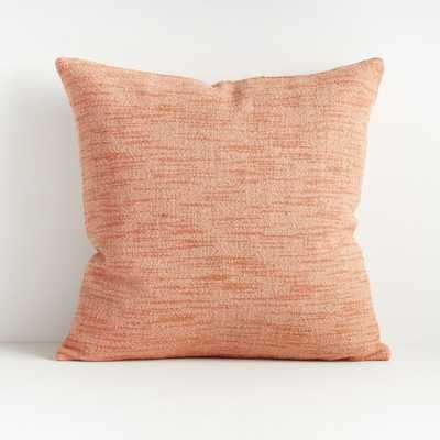 """Emi Blush Throw Pillow 20"""" with Feather-Down Insert - Crate and Barrel"""
