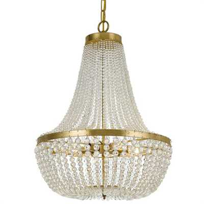SOPHISTICATED SOPHIE CHANDELIER - SMALL / Antique Gold Clear Crystal - Shades of Light