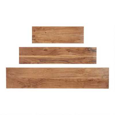 Acacia Wood Mix & Match Wall Shelves - 4' - World Market/Cost Plus