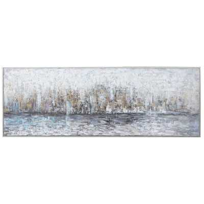 CITY REFLECTION HAND PAINTED CANVAS - Hudsonhill Foundry