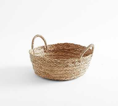 Moroccan Woven Tote Basket, Low - Pottery Barn