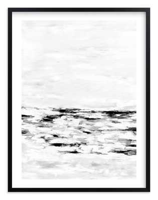 Faded Fury Diptych II in Black and White - 40 x 54 - Black wood frame - White border - Minted