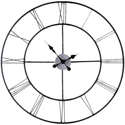 "Oversized 30"" Black Decorative Wall Clock - Wayfair"