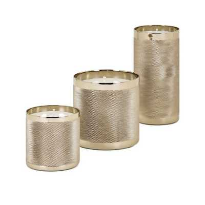 Cosette Wax Filled Candleholders - Set of 3 - Mercer Collection