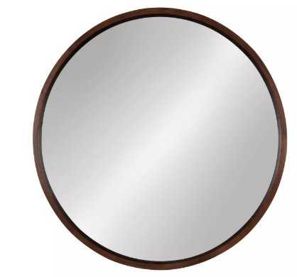 Thayne Round Wall Mirror Natural - A&B Home - Target