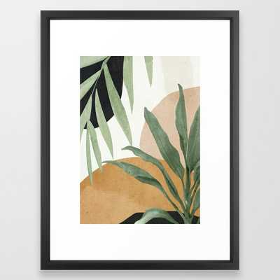 Abstract Art Tropical Leaves 4 Framed Art Print - Society6