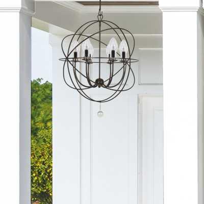 """Jayden Bronze 6 - Bulb 27.5"""" H LED Outdoor Chandelier - Wayfair"""
