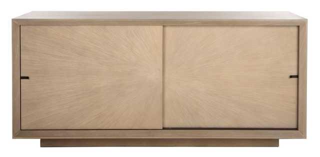 Francia Sliding 2 Door Sideboard - Grey Oak - Arlo Home - Arlo Home