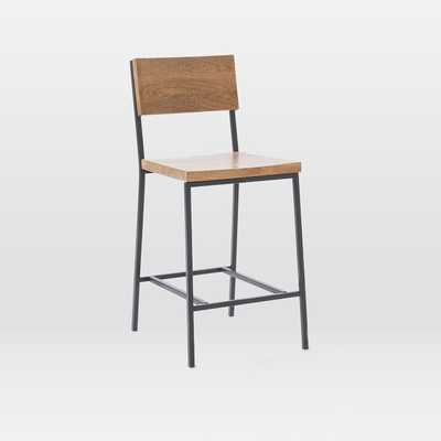 Rustic Counter Stool, Raw Mango - West Elm
