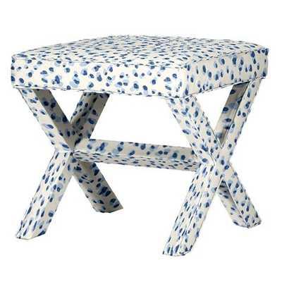 X Bench - Mira Blue - Ballard Designs