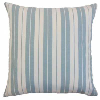"""Henley Stripes Pillow Sea - 20"""" x 20"""" - Down insert - Linen & Seam"""