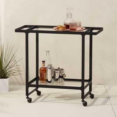 dolce vita outdoor bar cart - CB2