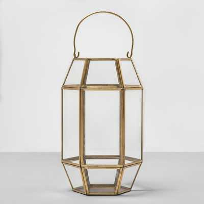 Outdoor Lantern Hexagon Glass with Gold Frame - Target