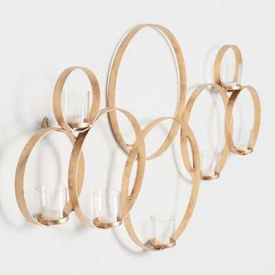 Brass Multi Circle Sconce: Gold by World Market - World Market/Cost Plus