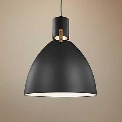 "Feiss Brynne 14""W Matte Black LED Pendant Light  - Lamps Plus"