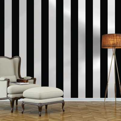 Black and White Stripe Repeel Removable Wallpaper, Black & White - Home Depot