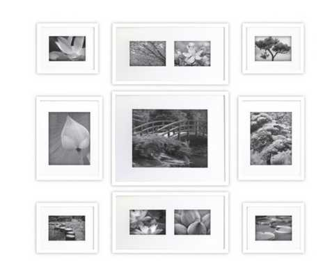 Gallery Perfect 9 Piece Multi-Size Wall Frame Set - White - Target