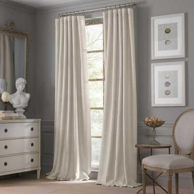 Valeron Estate Cotton Linen 120-Inch Window Curtain Panel in Flax - Bed Bath & Beyond