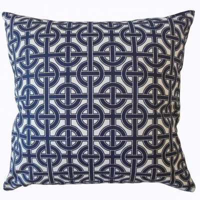 """Quillon Geometric Pillow - 18""""x18"""" down insert - Linen & Seam"""