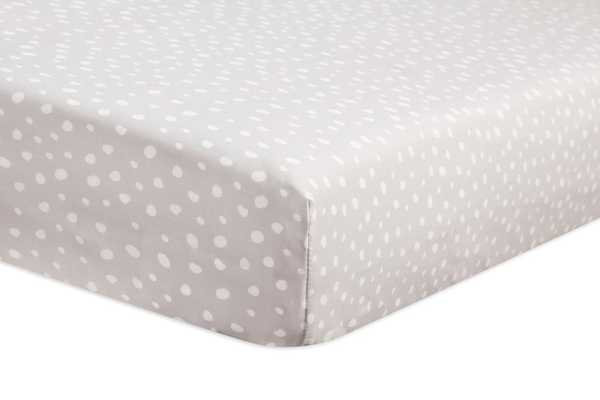 Tuxedo Grey Dots Fitted Crib Sheet - Babyletto