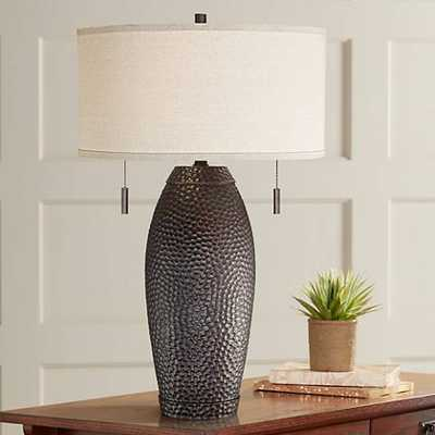 Noah Hammered Bronze Table Lamp - Lamps Plus