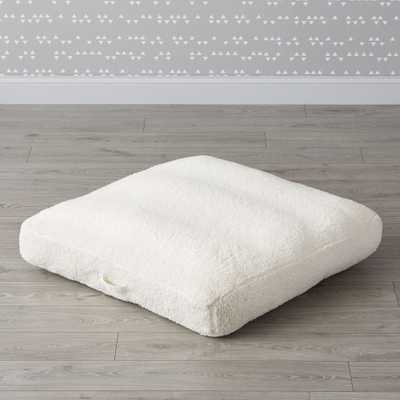 Faux Shearling Teepee Floor Cushion - Crate and Barrel