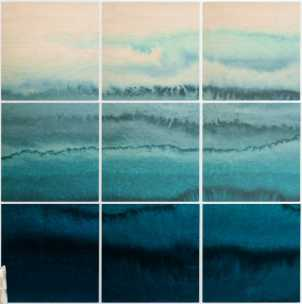 WITHIN THE TIDES - 5' x 5' Wood Wall Mural - Calypso - Wander Print Co.