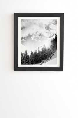 WHITE MOUNTAIN Wall Art -14''x 16.5''- Basic black frame with mat - Wander Print Co.