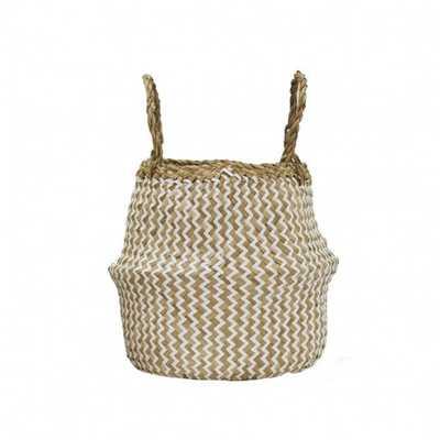 Zig-Zag Belly Basket - Domino