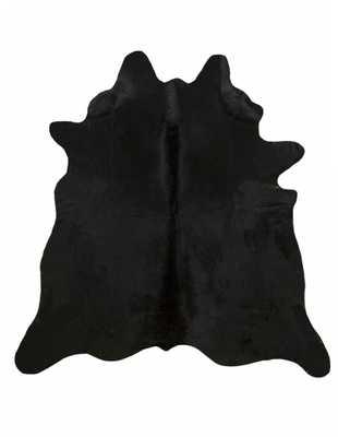 Solid Black Cowhide Rug - L - Cowhide Imports