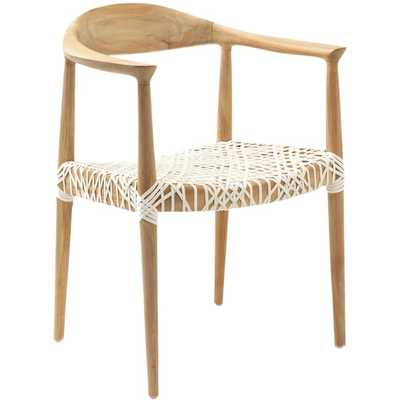Safavieh Rural Woven Dining Bandelier Light Oak Arm Chair - Overstock