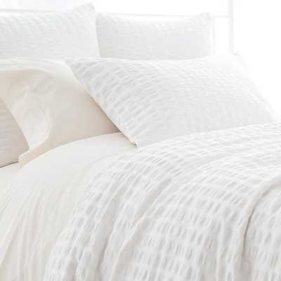 Parker White Bedding - King Duvet Cover - Burke Decor